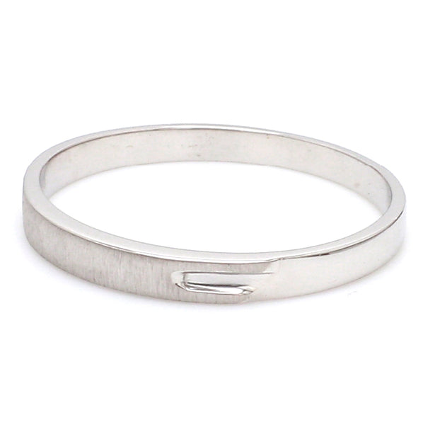 Price Point Plain Platinum Love Bands SJ PTO 234 - Suranas Jewelove
