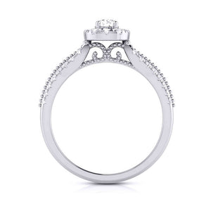 15-Pointer Designer Platinum Diamond Engagement Ring JL PT G-102