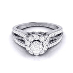 Load image into Gallery viewer, 15-Pointer Designer Platinum Diamond Engagement Ring JL PT G-102
