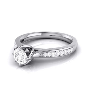 Designer 50-pointer Platinum Solitaire Engagement Ring JL PT G-109