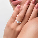 Load image into Gallery viewer, Designer 50-pointer Platinum Solitaire Engagement Ring JL PT G-109