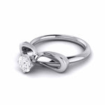 Load image into Gallery viewer, 40-Pointer Designer Platinum Solitaire Engagement Ring for Women JL PT G-112