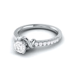 Load image into Gallery viewer, Designer Platinum Solitaire Engagement Ring for Women with Diamond Accents JL PT G-113