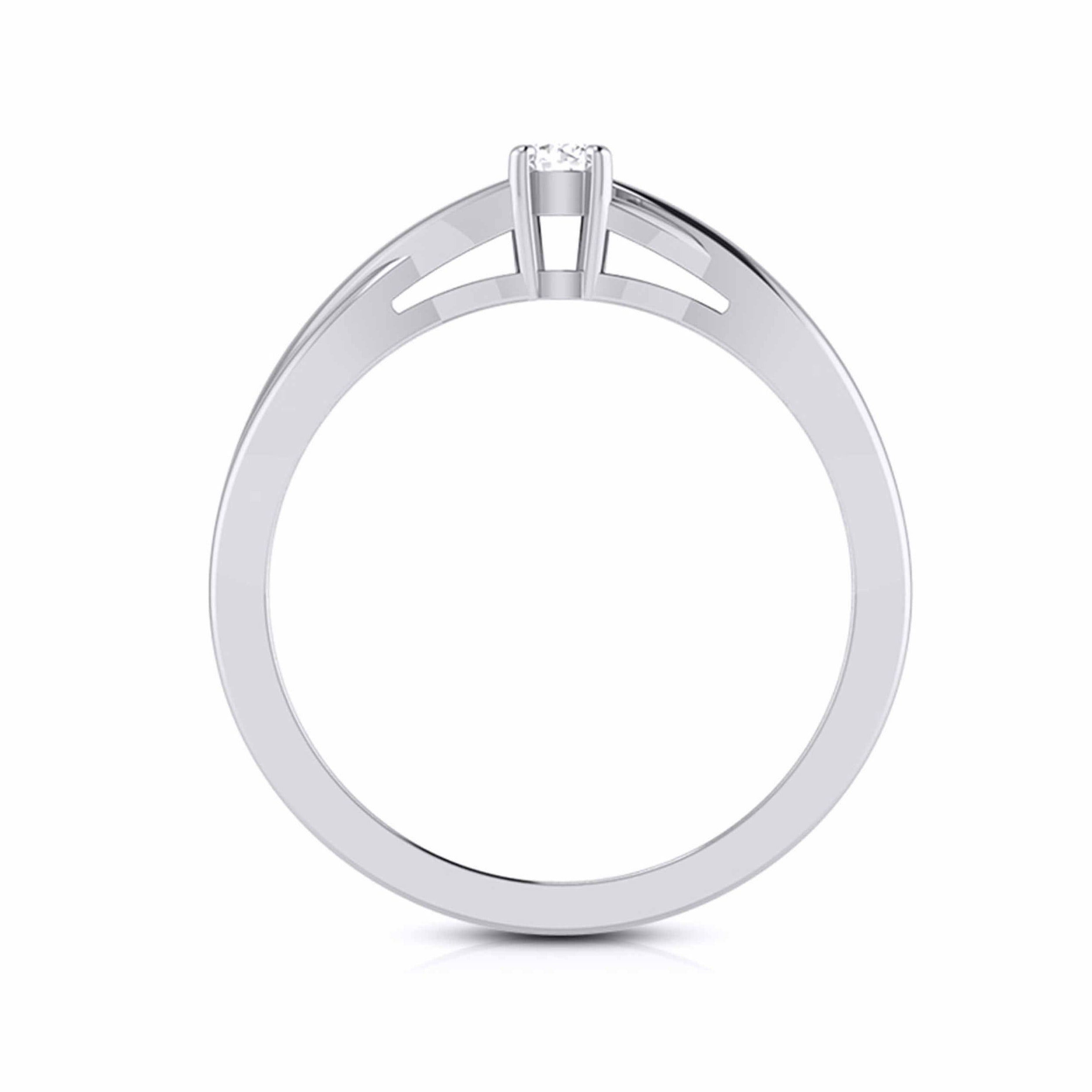 10-Pointer Platinum Solitaire Ring - Shank with a Twist JL PT G-115