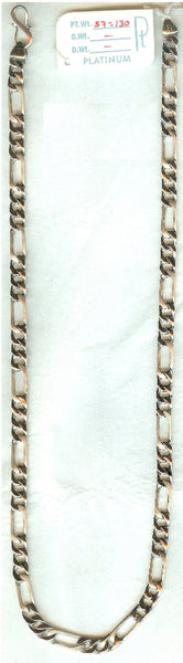 Heavy Platinum Sachin Chain for Men JL PT 728 in India