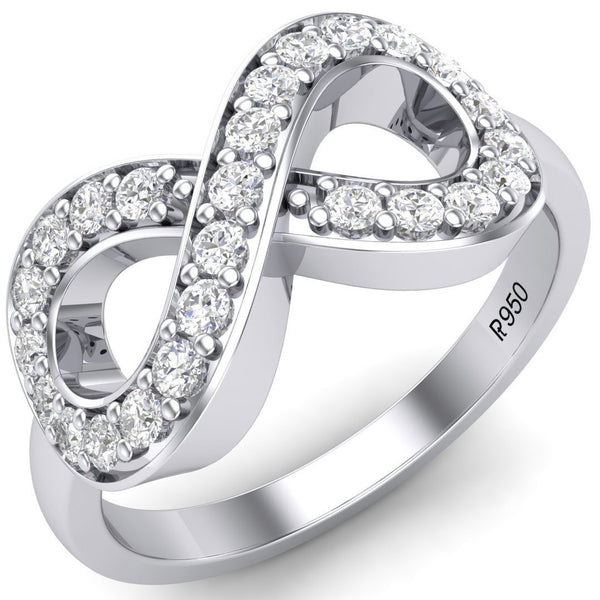 Infinity of Love Platinum RIng for Women JL PT 458 - Suranas Jewelove  - 2