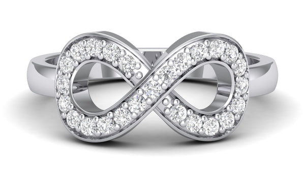 Infinity of Love Platinum RIng for Women JL PT 458 - Suranas Jewelove  - 1