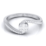 Load image into Gallery viewer, Designer Solitaire-Look Pressure Setting Platinum Ring for Women JL PT LR 83