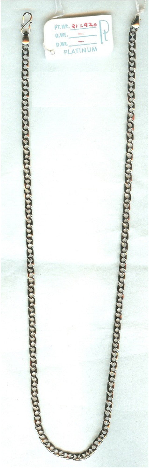 Lightweight Platinum Chain for Men JL PT 727 - Suranas Jewelove