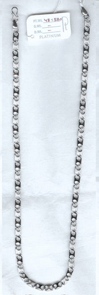 Heavy Platinum Chain with Hexagonal Links for Men JL PT 718 in India
