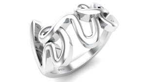 Love Platinum Ring for Women JL PT 457 - Suranas Jewelove  - 2