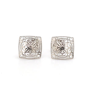 Designer Filigree Platinum Earrings for Women JL PT E 202