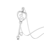 Load image into Gallery viewer, Key to Your Heart Platinum Pendant with Diamonds JL PT P 8198