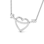 Load image into Gallery viewer, Platinum Arrow through the Heart Pendant with Diamonds JL PT P 8079