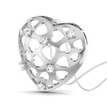 Load image into Gallery viewer, Platinum Heart Pendant with Diamonds JL PT P 8184