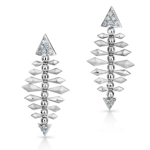 Platinum Evara Spike Motif Earrings for Women JL PT E 191