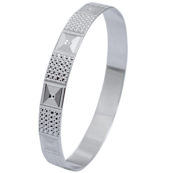Broad Platinum Bangle for Women with Diamond Cut JL PTB 622 in India