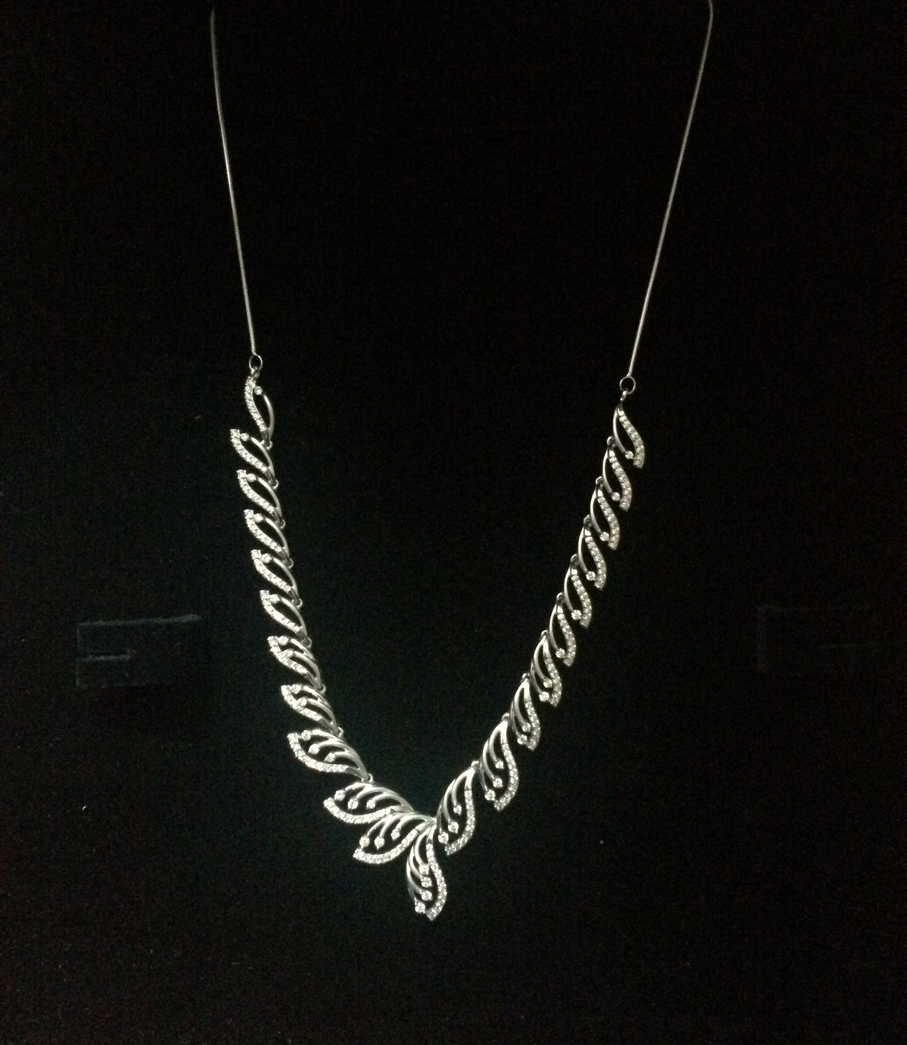 Super Sale - Platinum Necklace with Diamonds JL PT N33 - Suranas Jewelove