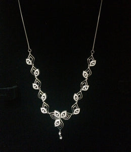 Super Sale - Platinum Necklace with Diamonds JL PT N34 - Suranas Jewelove