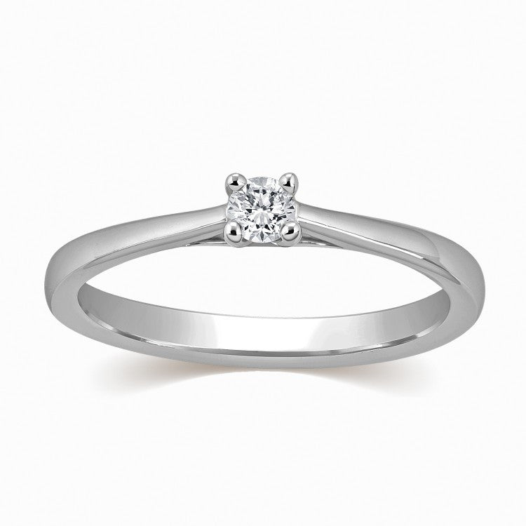 20 Pointer Platinum Solitaire Ring for Women SJ PTO 306 in India
