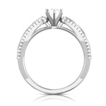 Load image into Gallery viewer, Designer Platinum Solitaire Engagement Ring with Infinity Shank for Women JL PT R-16