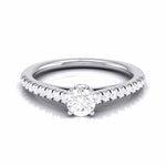 Load image into Gallery viewer, Platinum Diamond Halo Solitaire Engagement Ring JL PT R-55