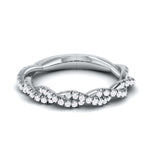 Load image into Gallery viewer, Designer Platinum Diamond Ring with Twist JL PT R-80