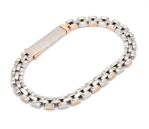 Men of Platinum | Rose Gold Fusion Bracelet for Men JL PTB 650