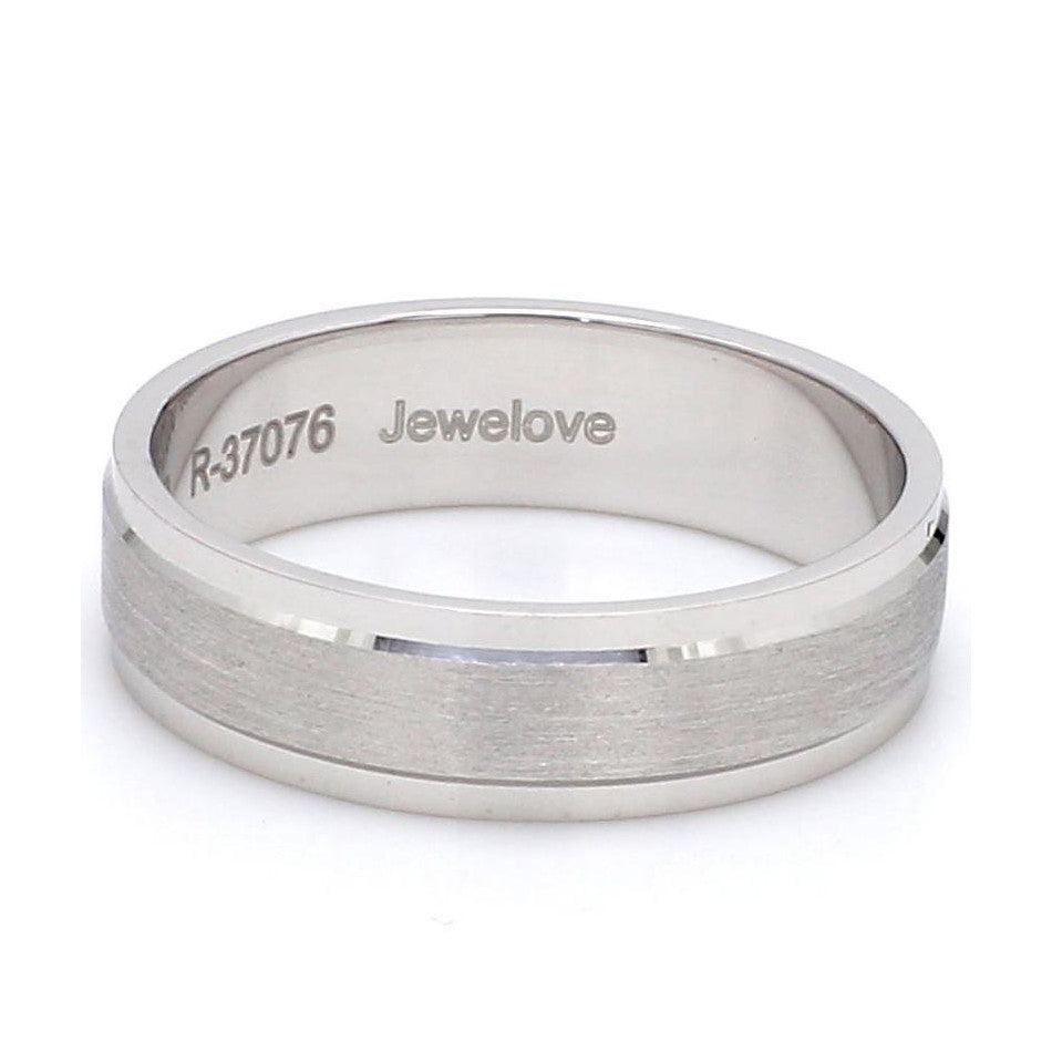 Side View of Classic Platinum Love Bands without Diamonds for Women SJ PTO 104