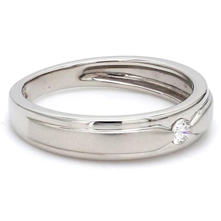 Side View of Elegant Platinum Love Bands with Matte Finish JL PT 529