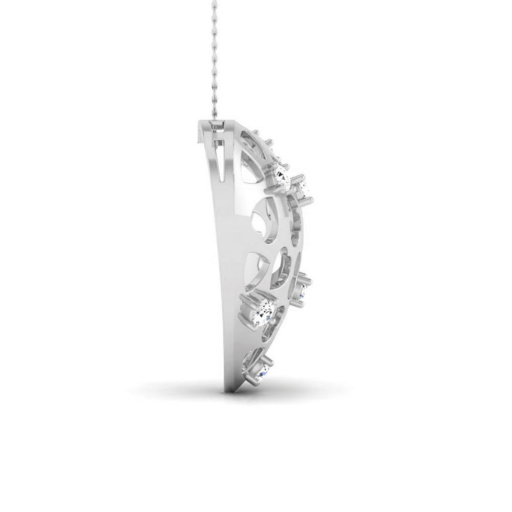 Platinum Heart Pendant with Diamonds JL PT P 8184