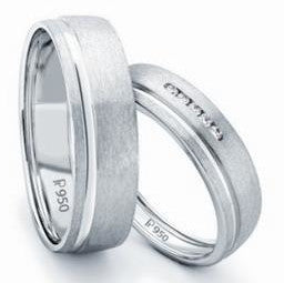 Simple Platinum Love Bands JL PT 107