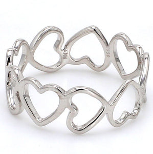 Eternity of Hearts Plain Platinum Ring JL PT 551 for Women