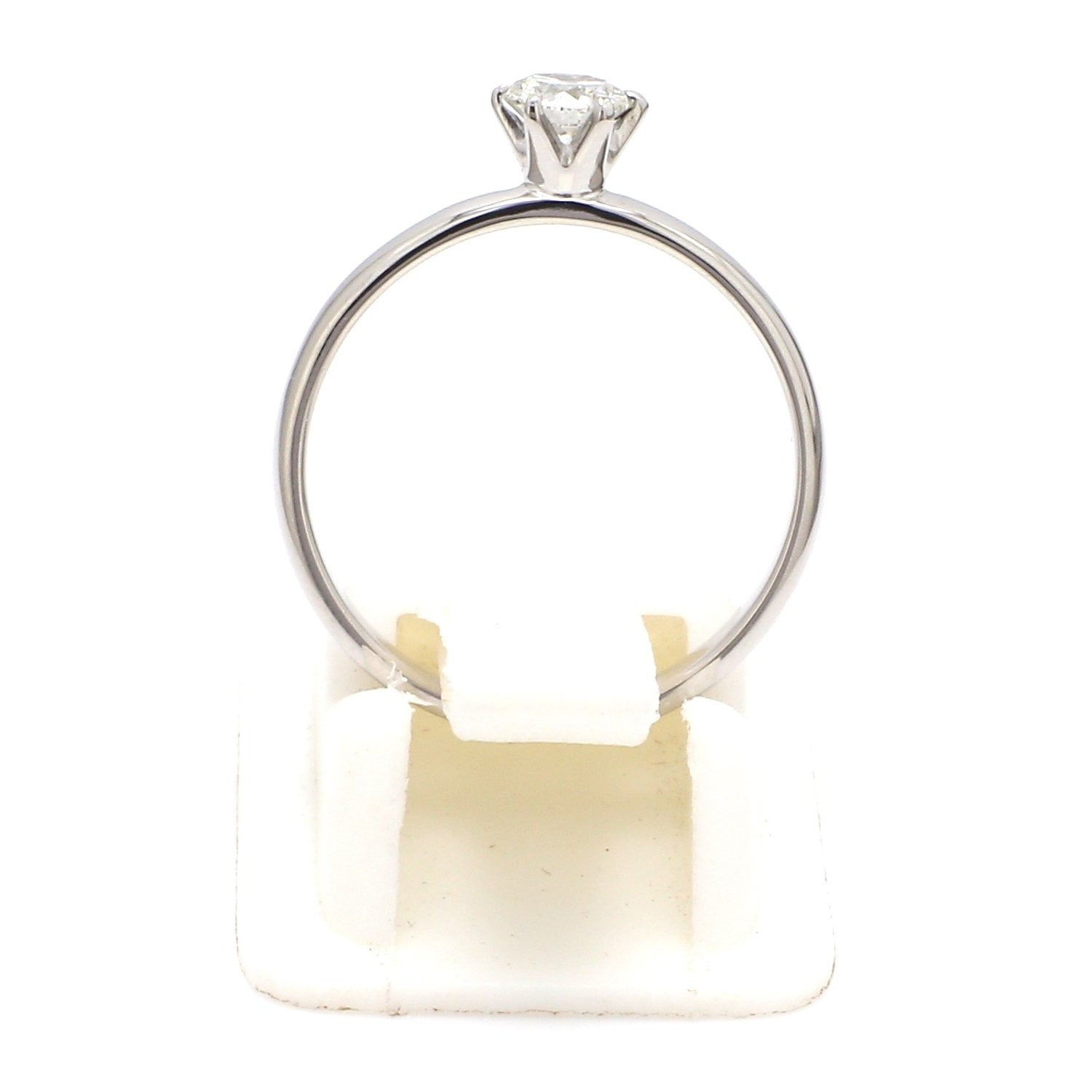 20 Pointer Classic 6 Prong Solitaire Ring made in Platinum SKU 0012-A