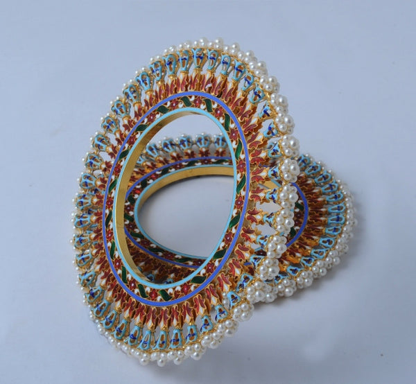Famous Pearl Bangdi Bangle Pair by Suranas Jewelove in India