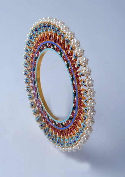 Famous Pearl Bangdi Bangle Pair by Suranas Jewelove - Suranas Jewelove  - 2