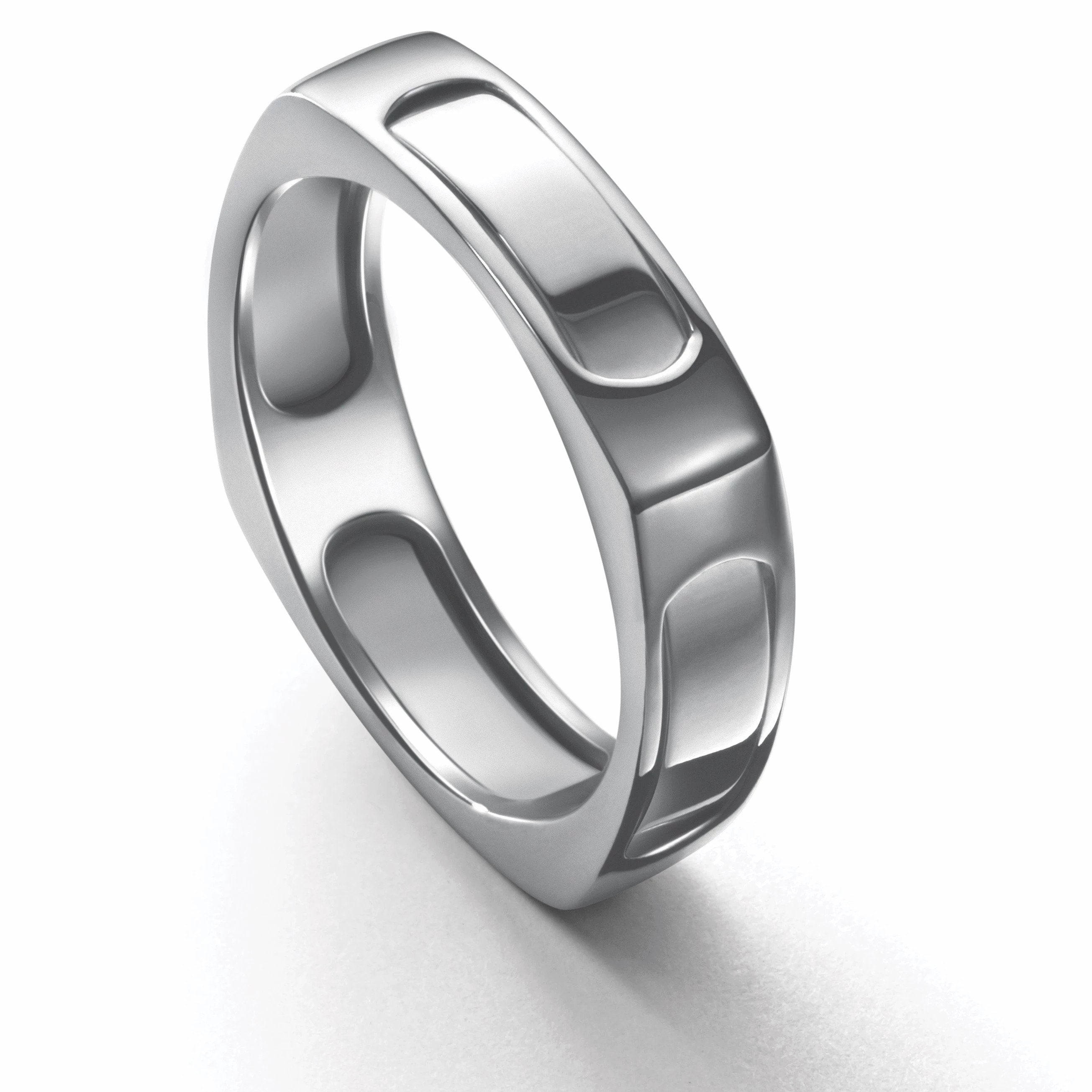 Men of Platinum | Square Profile Ring JL PT 688