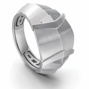 Men of Platinum | Heavy Samurai Platinum Ring JL PT 687