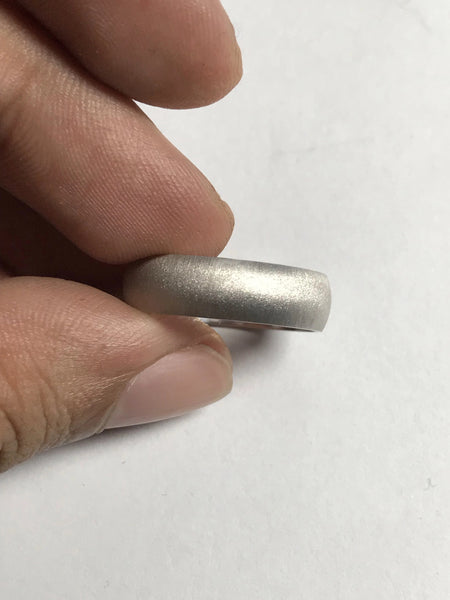 6mm Matte Finish Platinum Wedding Band JL PT 258