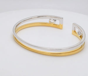 Platinum & Yellow Gold Open Kada for Men JL PTB 625-Yellow