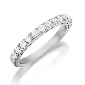 Half Eternity Platinum Ring with U-cut Pave Setting JL PT 916