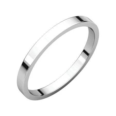 2mm Flat Platinum Wedding Ring JL PT 222-Flat