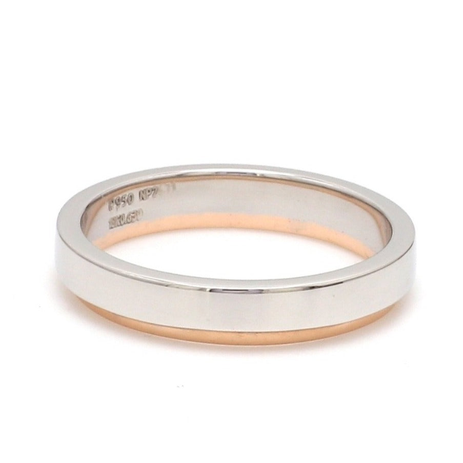 Customised Platinum Love Bands with Rose Gold JL PT 925