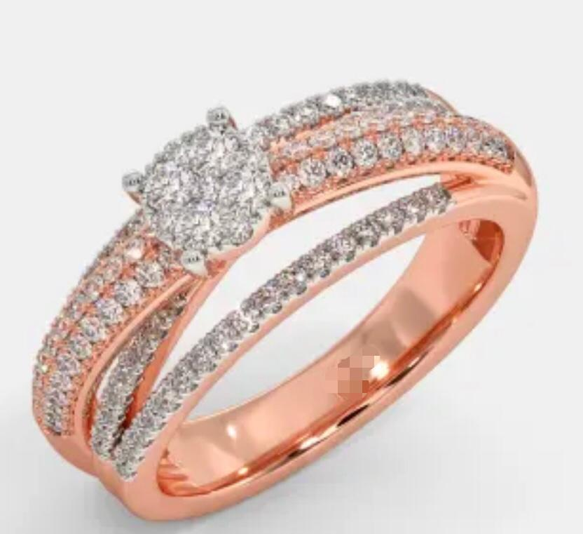 Customised 18K Rose Gold ring with diamonds