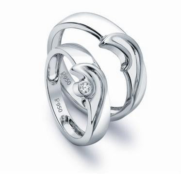 Designer Platinum Love Bands SJ PTO 119 in India