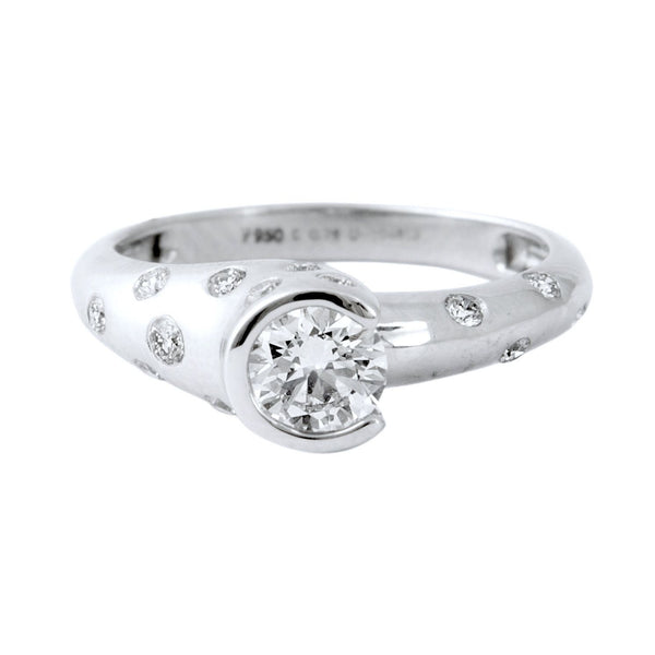 Designer Solitaire Ring for Women made in Platinum SJ PTO 299 - Suranas Jewelove  - 3