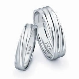 Platinum Love Bands without Diamonds SJ PTO 112 - Suranas Jewelove
