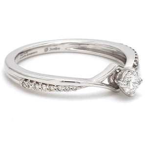 Side View of Platinum Diamond Engagement Ring with 15 Pointer JL PT 573