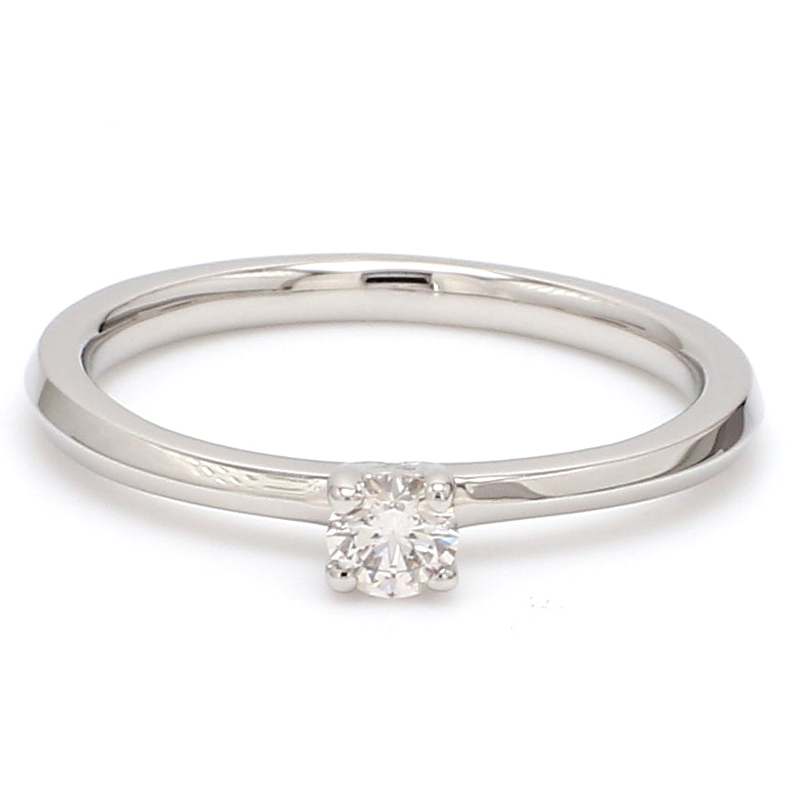 16 Pointer Classic 4-Prong Platinum Solitaire Ring JL PT 669