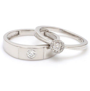 Platinum Rings for Couple with Single Diamonds JL PT 593